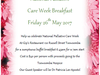 Help celebrate National Palliative Care Week Friday 26th May 2017 at Gip's  Restaurant; in aid of the Hospice.