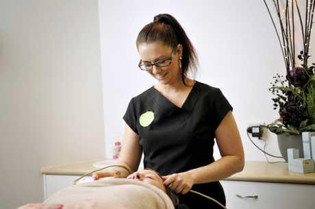 Beautician at Fresh Skin Spa Simone Filshie. My Career. Photo Dave Noonan / The Chronicle