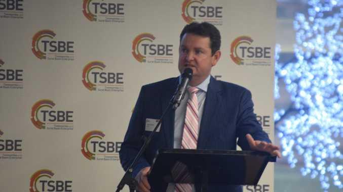 Shane Charles speaks. Photo Derek Barry / Surat Basin News