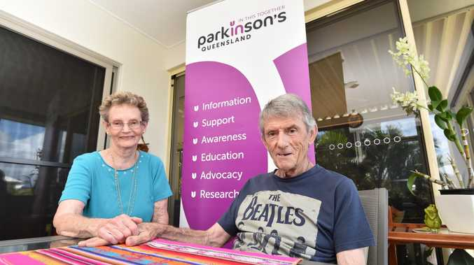 Jaimie de Salis and Parkinson's sufferer Barry Vincent are excited to welcome Dr Geoffrey Boyce to the support group's meeting this month.
