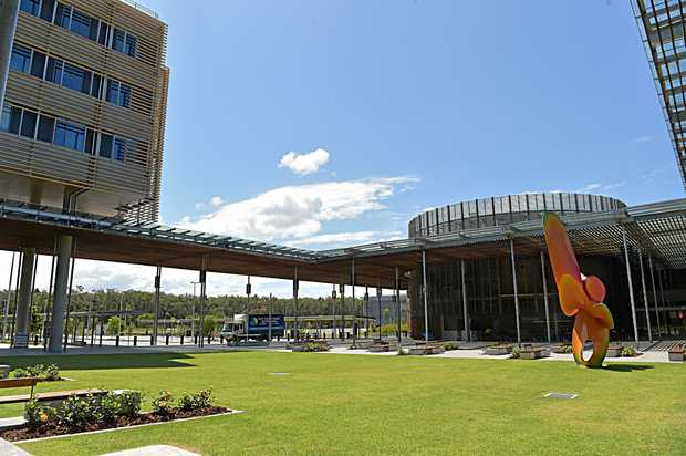 Views of the Sunshine Coast University Hospital.