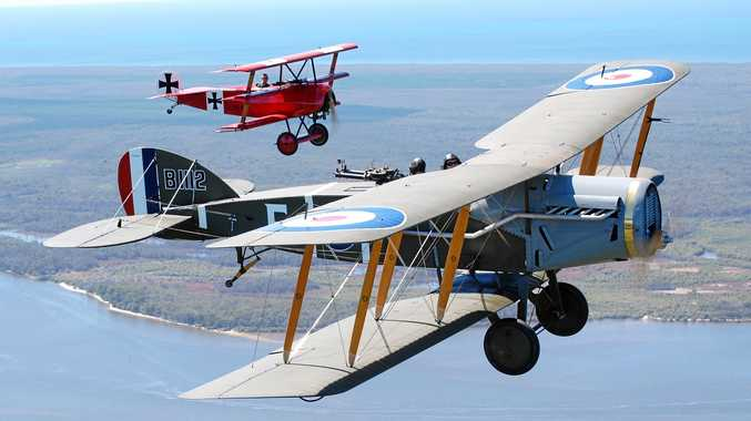 TAKE FLIGHT: The Bristol F2B fighter flown by Australia's 1 Squadron in the Middle East in 1917 will be on display at the Caboolture airfield on April 22 and 23.