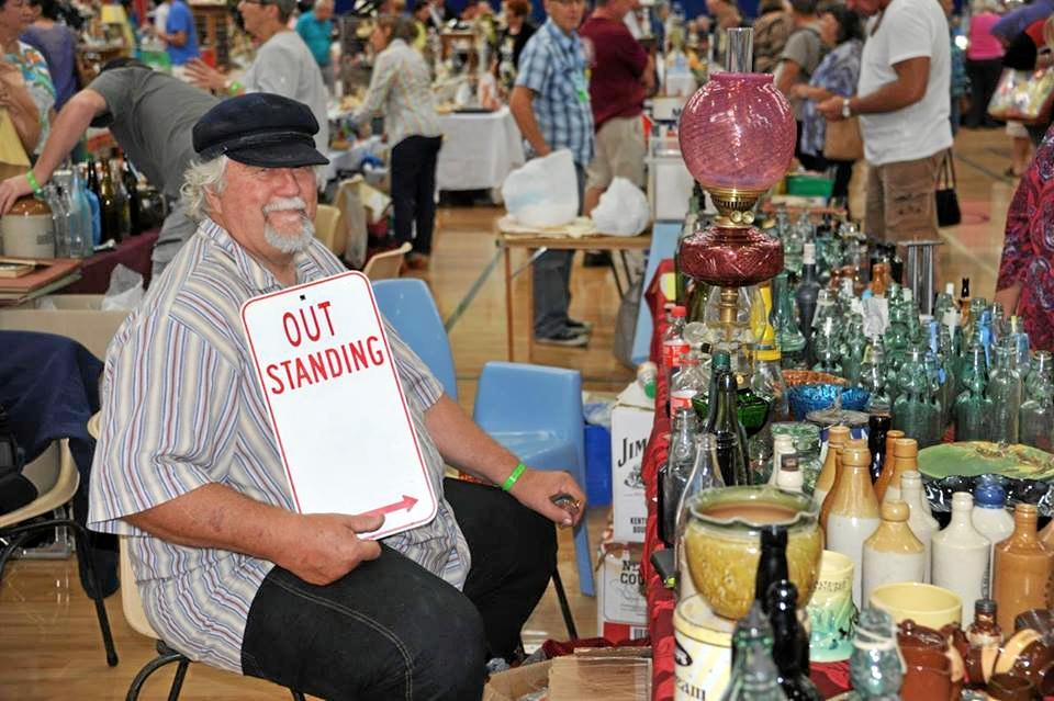 ANTIQUES FAIR: Jim Bell never misses an event on the collectables calendar.
