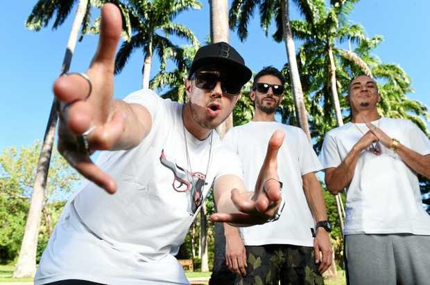 GETTING UP CLOSE AND PERSONAL: Bliss n Eso's MC Bliss (Jonathan Notley), DJ Izm (Tarik Ejjamai) and MC Eso (Max MacKinnon).