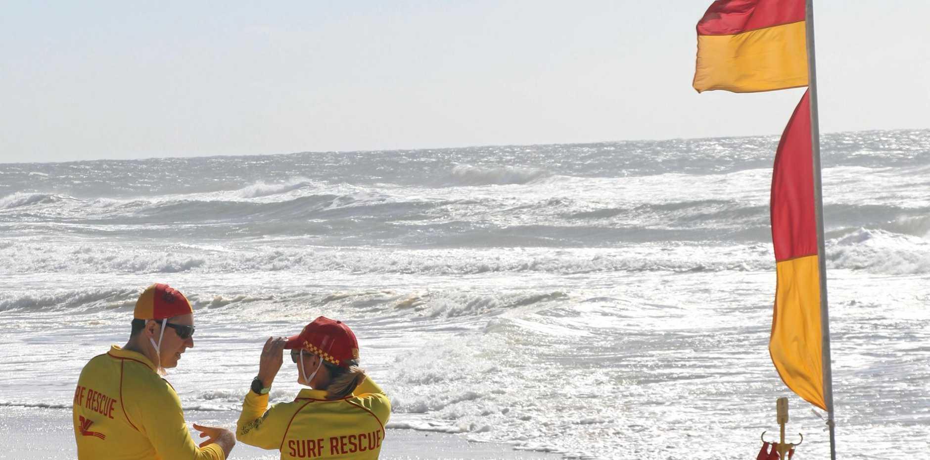 HERE TO HELP: Surf Life Savers at Sunshine Beach.