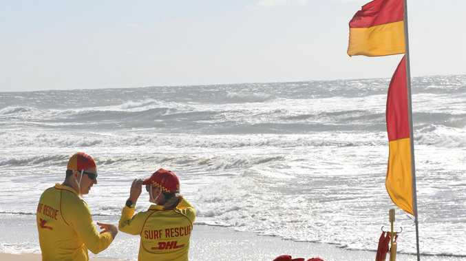 HERE TO HELP: Surf Life Savers at Sunshine Beach.