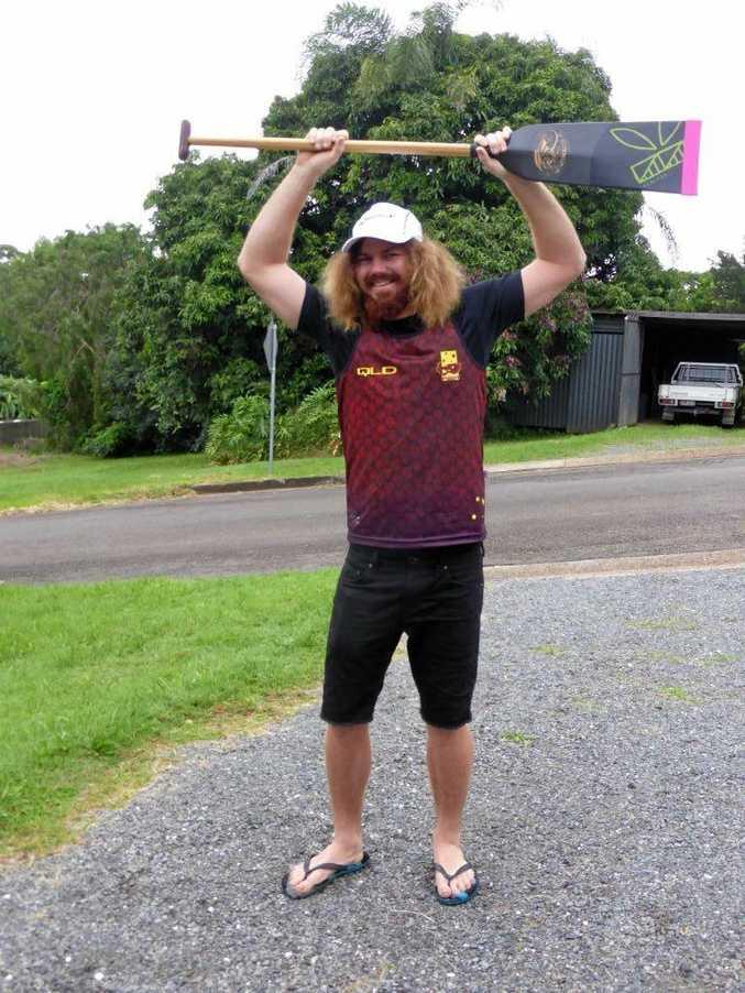 REPRESENT: Shane Berkhout in his Queensland colours.