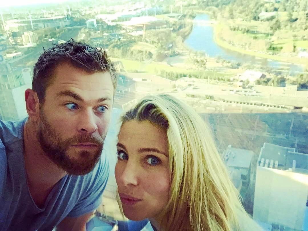 Chris Hemsworth and Elsa Pataky.