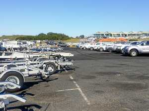 More than 140 boats parked up at the boat ramp, showcasing the economic benefit of the NSW Mackerel Championships over April 14-16.