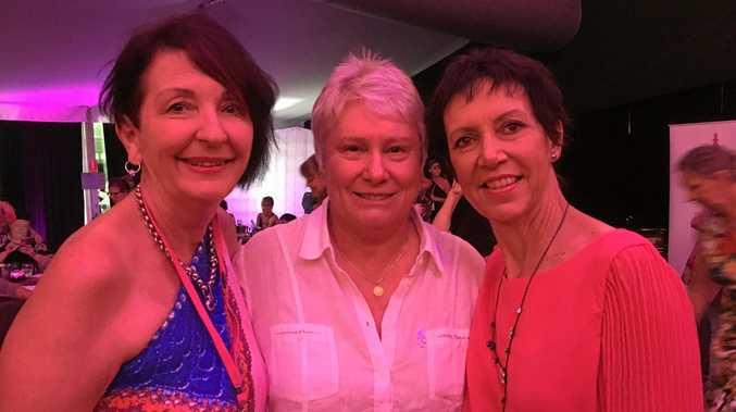 CANCER SUPPORT: Breast Cancer National Australia's Leonie Moore, Raelene Boyle and Linda Gibson.