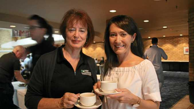 REBUILDING: Lismore business owners Julie Gibson and Charmaine Todd attended the breakfast forum to learn more about Category C funding options as they plan to rebuild.