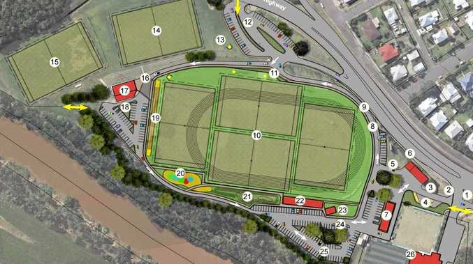 Albert park master plan layout, courtesy of Gympie Regional Council.