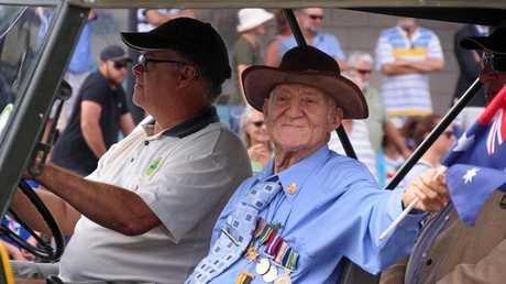 Con Souvlis on ANZAC Day March 2016 - Hervey Bay.