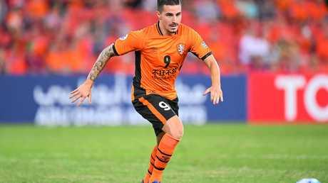 Brisbane Roar striker Jamie MacLaren.