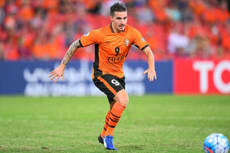 Brisbane Roar striker Jamie MacLaren.