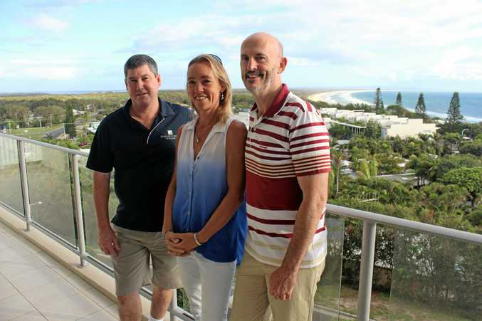 UNITED FRONT: Team Rainbow Beach president Michael Read, secretary Rachel Croker and marketing manager Daryl Gauld.