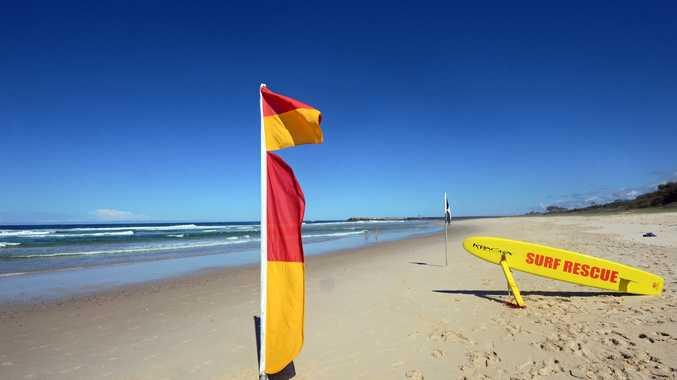 Surf lifesavers at Lighthouse Beach, East Ballina.