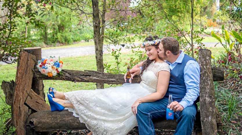 BEAUTIFUL DAY: Pete and Bronwyn Rudd's wedding at a family farm in Kandanga.