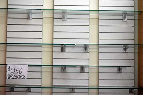 The shelves are quickly becoming bare as shoppers grab the closing down bargains at Kitch'n Things in Gympie.