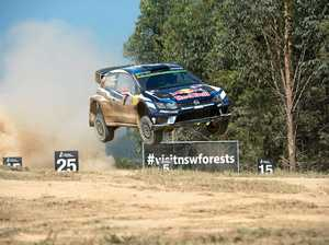 WRC rally Australia  Wedding bells stage, Jari-Matti Latvala lands heavily on the Jump. 20 NOV 2016