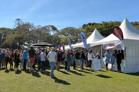 Mackay Festival of Arts G & S Engineering Wine and Food Day at Queens Park 20th July, 2014. Photo Lee Constable / Daily Mercury