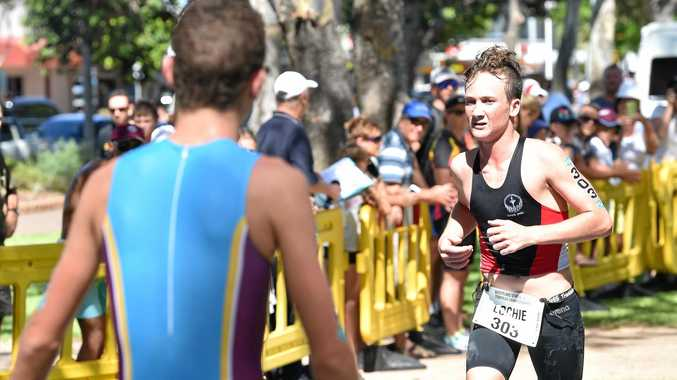 TRIPLE THREAT: Hervey Bay trio Lochie Armstrong (above), Col Curry (bottom, left) and Todd Baldwin (bottom, right) represented Queensland at the School Sport Australia Triathlon Championships in Penrith, NSW.