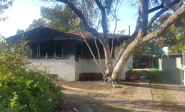 The house was completely destroyed after fire took hold yesterday.