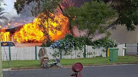 A blaze has destroyed this Leichhardt home. Photo: Facebook/Marree Auld