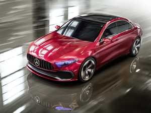 SMOOTH: Concept A is basically an A Class four-door sedan, and looks like an attractive evolution of the current CLA shape.