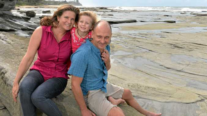 Geoff Gearheart is a fascinating man, who's lived all over the world with his partner Elizabeth Johnstone and daughter Ella, 3, and he can't believe how lucky the Sunshine Coast is as a region.