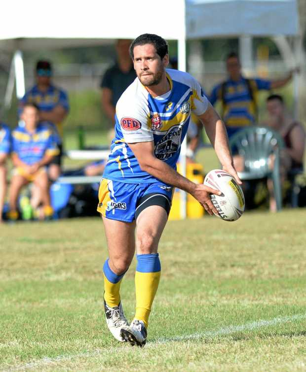 Yeppon player Jonathon Tavinor in the rugby league game against the Sharks.  Photo: Chris Ison / The Morning Bulletin