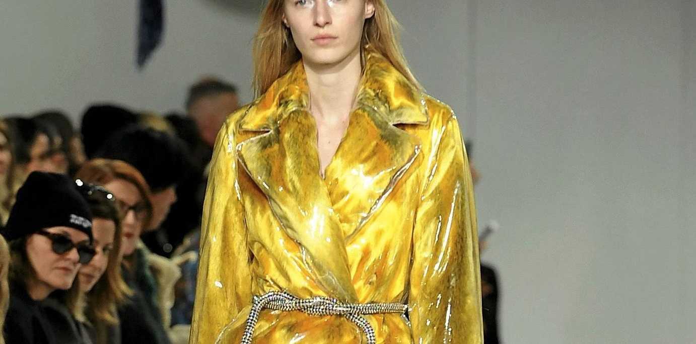 Yellow featured in the Calvin Klein fashion collection during Fashion Week in New York in February.