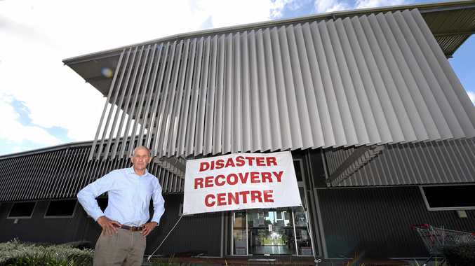 Disaster recovery coordinator Euan Ferguson stands outside the dsiaster recovery centre located at the Murwillumbah Community Centre.