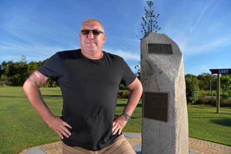 Coolum Peregian RSL sub-branch president Mark Payne at the Coolum cenotaph.