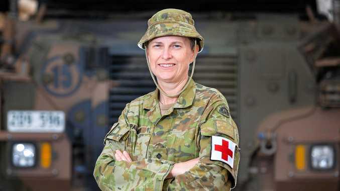 MAJOR ROLE: Australian Army officer Captain Emma Palmer, from Repton, is part of Task Group Taji 4 at Taji Military Complex, Iraq.