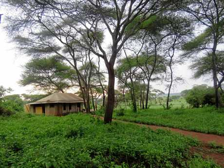 Sanctuary Swala offers secluded tent accommodation as good as any five-star hotel.