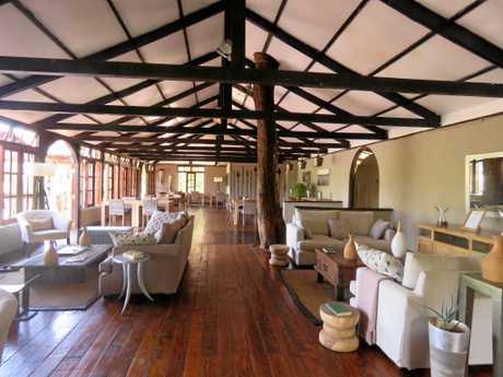 Sanctuary Olonana's rustic lodge offers luxurious comfort.