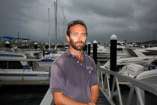 Port of Airlie Marina marine and operations manager Clayton Matthews at the Port of Airlie.