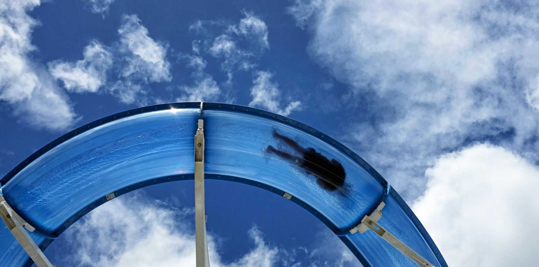 SLIP, SLIDE AWAY: The installation of a waterslide was part of a major refurbishment of P&O Pacific Dawn.