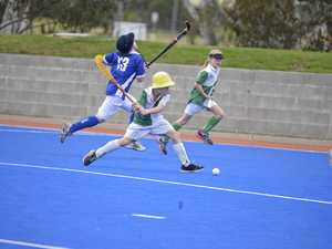 Queensland palyers visit Warwick Hockey