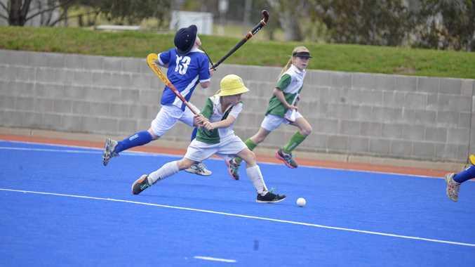 Harry Gillespie on the attack in Warwick junior hockey last season.