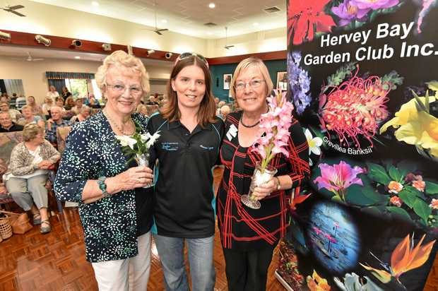 Marcus' Legacy Family Fun Day is back on for another year this weekend. Pictured: Hervey Bay Garden Club treasurer Henny Hof and president Barbara Goodwin with Jodie Tangikara (centre) with last year's donations.