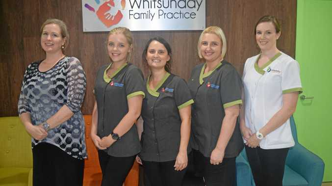 Whitsunday Family Practice medical staff Melissa McCann, Tori Scotman, Jacqui Price, Deb Windsor and Kate Hindle were just some of the medical staff that helped the community with a makeshift hospital in the direct aftermath of Cyclone Debbie.