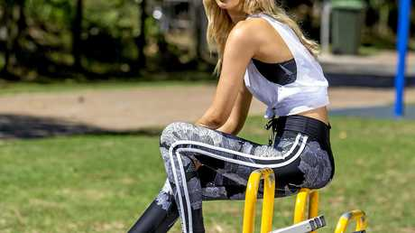 High-end stores are adding activewear to their offerings. Beth Hurrell from Que Models at Burleigh Beach.