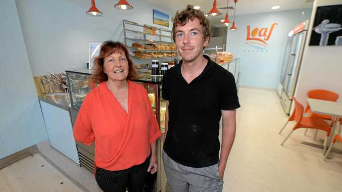 Dorothy Skinn and Shannon Skinn at Loaf by the Beach bakery in Yeppoon.   Photo: Chris Ison / The Morning Bulletin