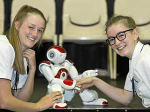 College embraces future with new life-like teaching robot