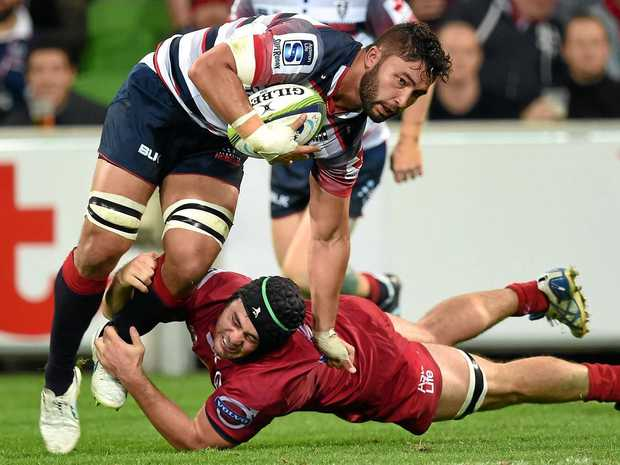 Melbourne Rebels player Colby Fainga'a.