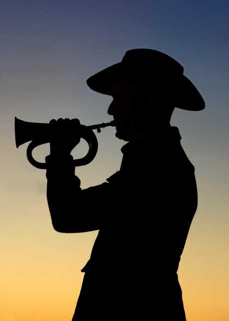 Bugler Malcolm Wood at the Coolangatta/Tweed Anzac Day dawn service.  Photo: Nolan Verheij-Full / Tweed Daily News