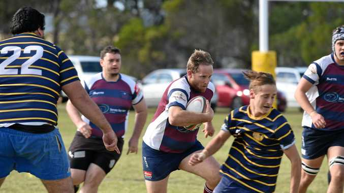 PRIMED: Mariner Ed Ball in action against Gympie.