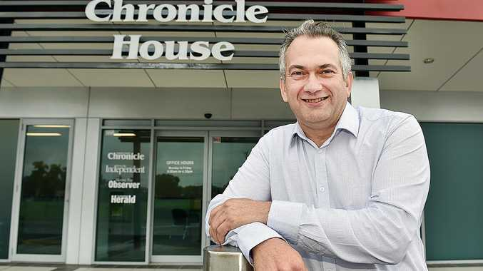 LIVING LOCAL: The Fraser Coast Chronicle's new general manager Brett Hanwright.